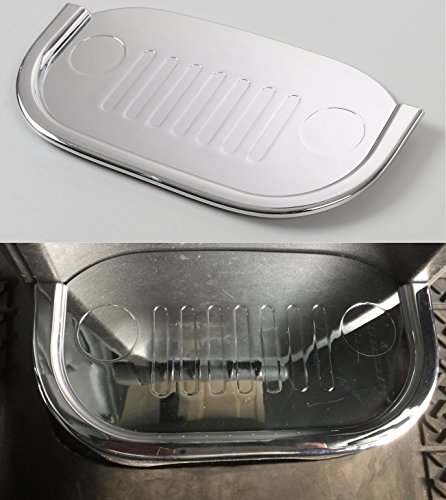 Opar Chrome Silver Back Seat Cup Holder Cover for 2007 - 2010 Jeep JK Wrangler & (Rubicon Cups)