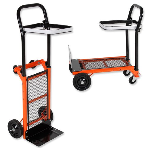 TecTake® Profi Sackkarre Transportkarre Stapelkarre Plattformwagen Rollwagen 80kg belastbar