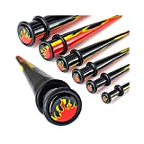 Flame Print Acrylic Taper, Gauge: 00 (10Mm)