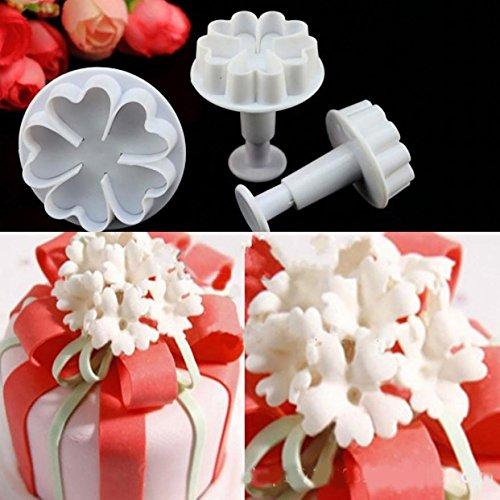 Kuche Ware Llc New Beliebte 3 Teiliges Funf In Herzform Blumen