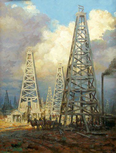 - Derricks of Black Gold Oil Well by Andy Thomas