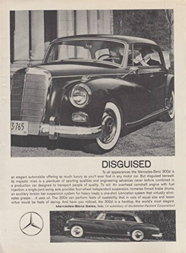 Disguised - Mercedes-Benz 300d 4-door hardtop ad 1959