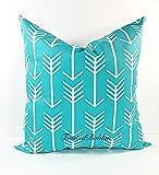 Apache Blue & White Arrow Pillow cover. Sham cover. throw Pillow cover. Select size.