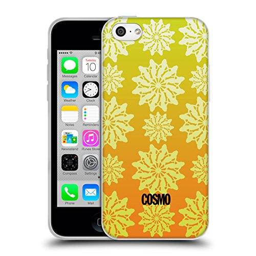 Official Cosmopolitan Ombre 4 Floral Patterns Soft Gel Case for Apple iPhone 5c