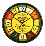 Elios 11' Round Multi Color Wall Clock for Home Kitchen/ Bed Room & Living Room