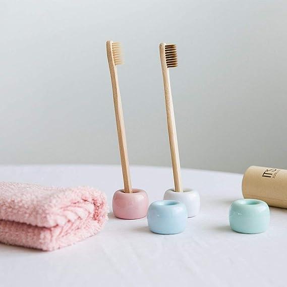 Brandon trollpoe 4 pcs/Pack Mini cerámica soporte para cepillos de dientes cepillo de dientes de porcelana anillo organizador de almacenamiento de baño: ...