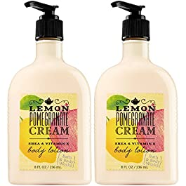 2 Lemon Pomegranate Cream Body Lotion 8 Oz Each (Set of Two)