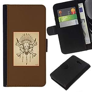 All Phone Most Case / Oferta Especial Cáscara Funda de cuero Monedero Cubierta de proteccion Caso / Wallet Case for Sony Xperia M2 // Buffalo Bones