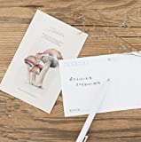 30pcs/packed to sell mushroom manor design blessing holiday message wedding greeting cards