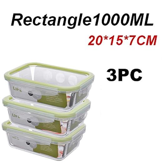 AQGY Lunch Box Glass Bento Box Microondas Refrigerado Sellado ...