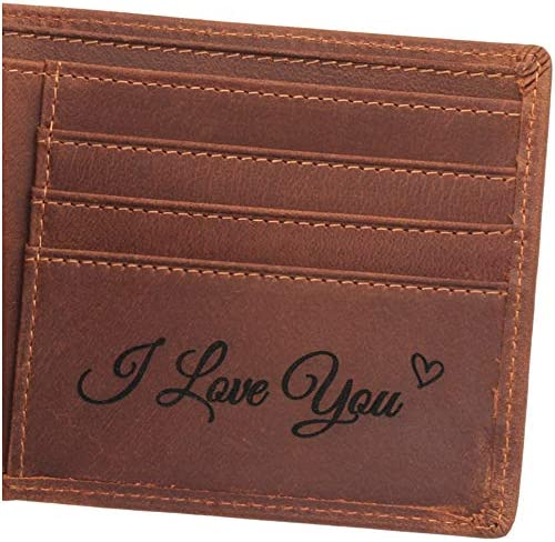 محفظة جلدية للرجال مخصصة هدايا عيد ميلاد للرجال هدايا للزوج هدايا صديقة هدايا للأب هدايا محفورة شخصية للرجال محفظة للرجال Amazon Ae