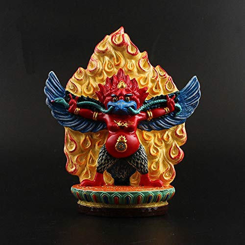 - Viet JK Buddhist Statue - 14.5cm Delicate Resin Hand Plated Buddhist Bodhisattva ROC Golden Wings Bird Tibetan Esoteric Figure Buddha Statue 1 PCs