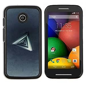 Queen Pattern - FOR Motorola Moto E (1st Gen, 2014) - Triangle Abstract - Cubierta del caso de impacto con el patr???¡¯???€????€?????n Art