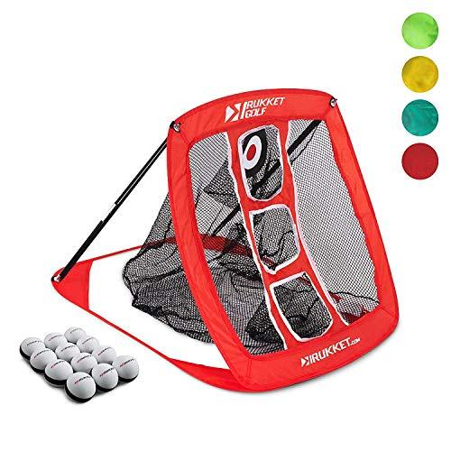 Rukket Pop Up Golf Chipping Net | Outdoor / Indoor Golfing Target Accessories and Backyard Practice Swing Game | Includes 12 Foam Practice Balls ()