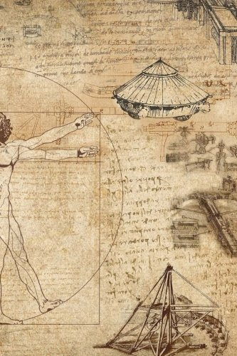 Leonardo Da Vinci Vitruvian Man: Journal / Notebook