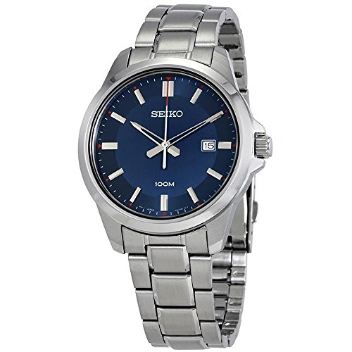 Seiko-Mens-42mm-Steel-Bracelet-Case-Hardlex-Crystal-Quartz-Blue-Dial-Analog-Watch-SUR243