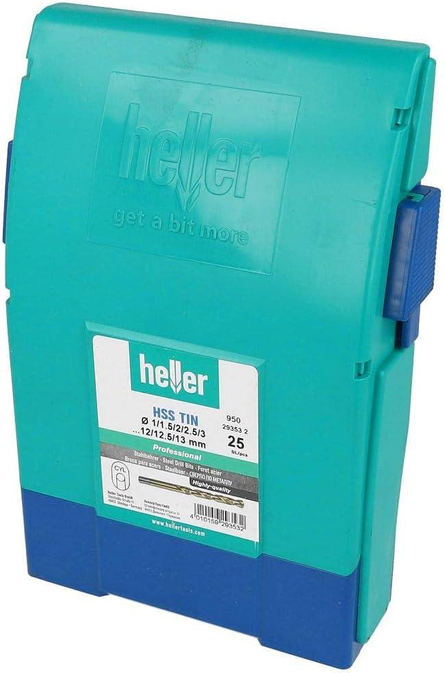 Heller 29353/High Speed Steel Drill Bit DIN 338/beschich 2-13/mm Set of 25 1/V