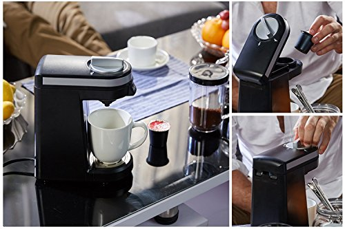 Aicok Single Serve Coffee Maker, Coffee Machine with 12OZ Water Tank, for Most Single Cup Pods including K-Cup Pods, Quick Brew Technology Travel One Cup Coffee Brewer by AICOK (Image #4)