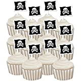 Pirate Party Cupcake Wrappers with Toppers
