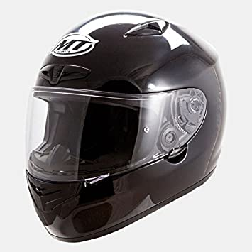 CASCO DE MOTO MT MATRIX SOLID FIBRA VIDRIO (XS, NEGRO BRILLO)