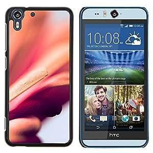 Dragon Case - FOR HTC Desire EYE M910x - floral peach purple blurry petal orange - Caja protectora de pl??stico duro de la cubierta Dise?¡Ào Slim Fit