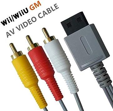 Wii/Wii U AV Cable - Cable de Audio y vídeo Compuesto 3 RCA ...