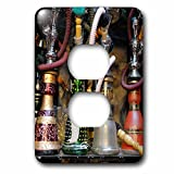 3dRose (lsp_257868_6) 2 Plug Outlet Cover (6) 2 Spain, Andalusia, Granada. Moroccan Hookahs for Sale in a Small Shop