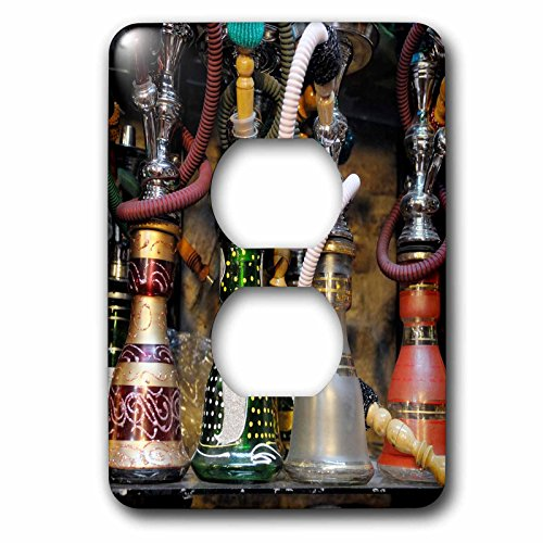3dRose (lsp_257868_6) 2 Plug Outlet Cover (6) 2 Spain, Andalusia, Granada. Moroccan Hookahs for Sale in a Small Shop by 3dRose