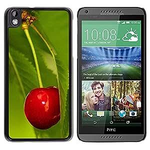 LECELL -- Funda protectora / Cubierta / Piel For HTC DESIRE 816 -- Fruit Macro Cherry Leaf --