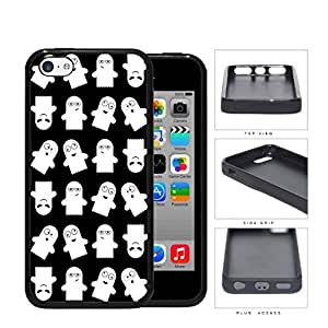 Ghost Silly Faces Cartoon Humor Rubber Silicone TPU Cell Phone Case Apple iPhone 5c