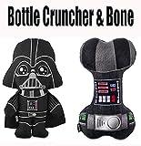 Leemar Star Wars Darth Vader 10' Bottle Cruncher and 9' Darth Vader Bone Dog Toys.