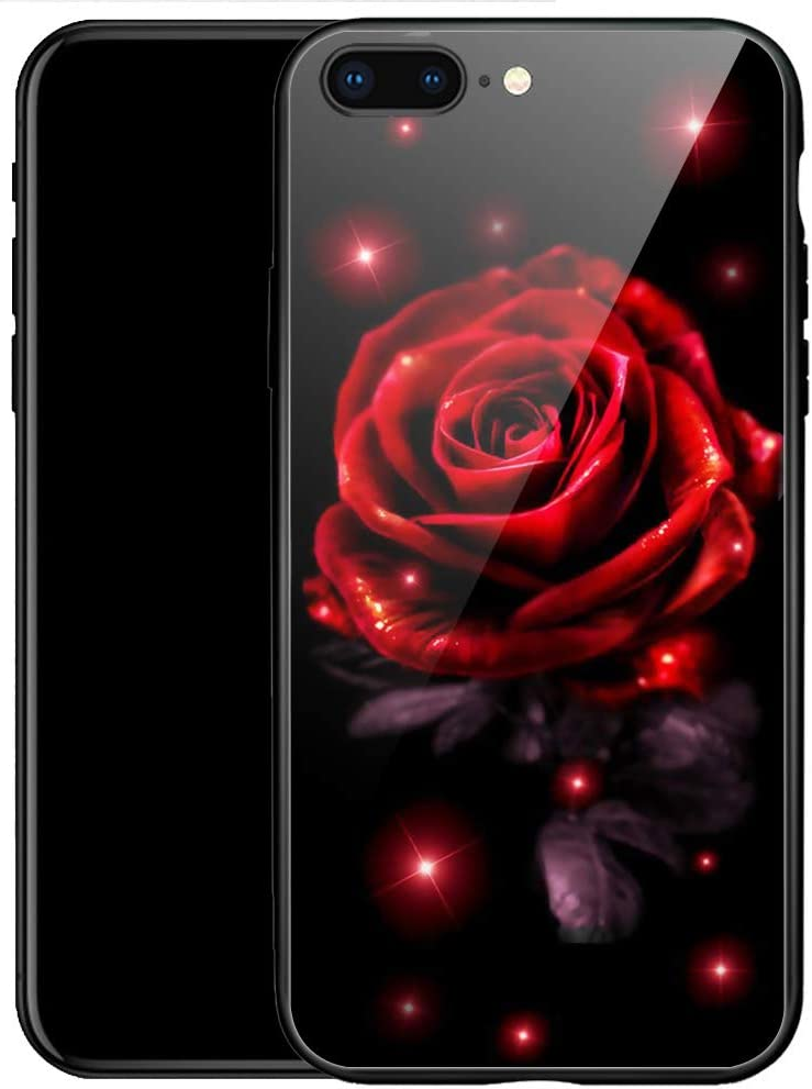 iPhone SE 2020 Case,Red Rose iPhone 8 Case,for Women Girls iPhone 7 Case,Anti-Slip Drop Protection with Soft TPU Bumper Pattern Design Case for for Apple iPhone 7/8/SE2 Case