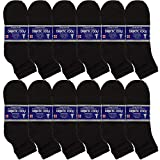 USBingoshop 6 or 12 Pairs Mens Physicians Approved Crew Ankle Diabetic Socks Cotton