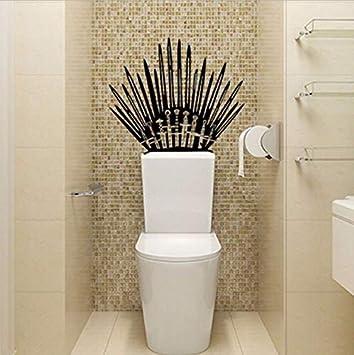 Game Of Thrones Toilette Personnalite Salle De Bains Decor Wall