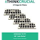 4 GE Fridge Odor Air Filter For Cafe Series, Fits CFE28TSHSS, CYE22TSHSS, CZS25TSESS & CNS23SSHSS, by Think Crucial