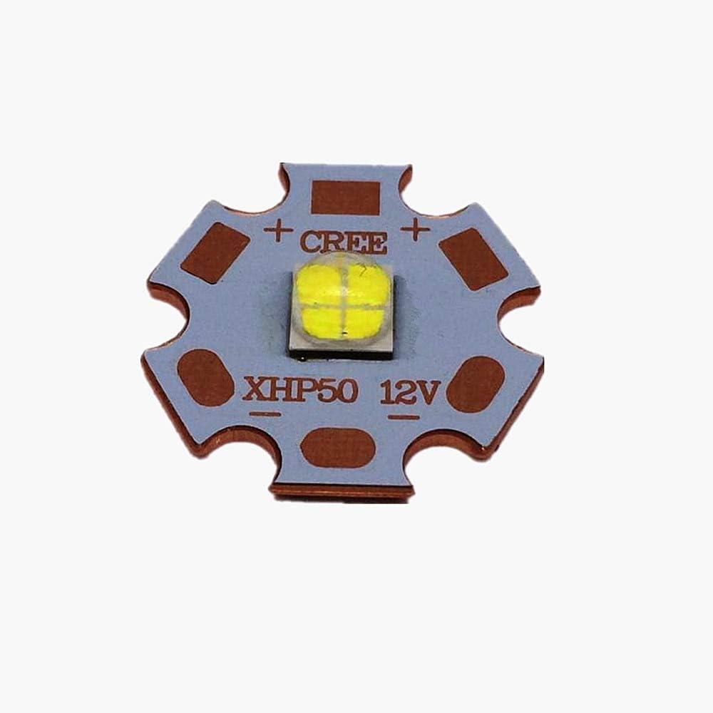 Jammas 10PCS Cree XLamp XHP50 18W 6V//12V LED Bulb Emitter 2546lm 18W Cool White LED J2 1A Chip Light with16MM 20MM Cooper PCB Emitting Color: 12V 16MM