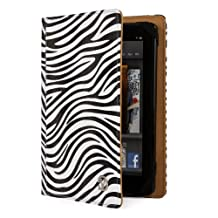 VanGoddy Mary Portfolio - Slim Premium Flip Book Style Cover w/ Integrated Display Self Stand fits Apple iPad Mini WiFi & Cellular 4G LTE // BLACK & WHITE ZEBRA