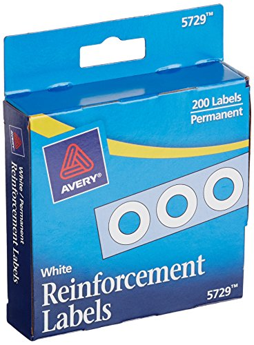 Avery White Self Adhesive Reinforcement Labels 0 25 Inch