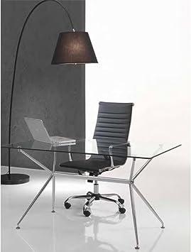 Tomasucci Task bureaustoel, kunstleer, zwart, met wielen