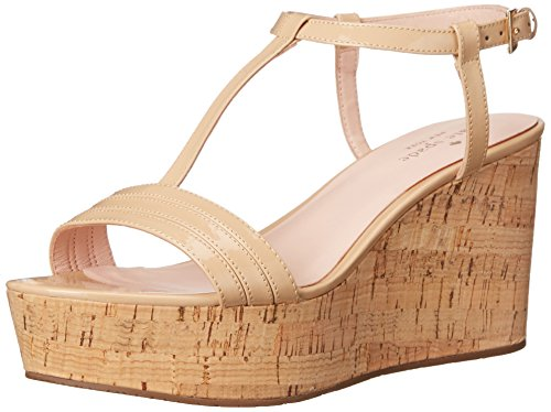 Kate Spade New York Women's Tallin, Powder Patent, 8 M US - Patent Cork Sandals Platforms Heels