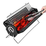 Image of Grekitchen BBQ Grill,Charcoal grill,Foldable and Portable Outdoor Grill with Carry Bag,A Perfect Gift for Barbecue Lovers