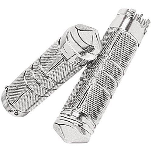 アクトロニクス Accutronix グリップ ローレット ダイヤモンド 82年以降 ハーレー全般 クローム 0630-0310 GR100-SKIC B01LZD9ROQ