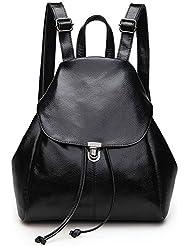 Women Leather Drawstring Backpack School Bag Travel Street Shoulder bag Handbag