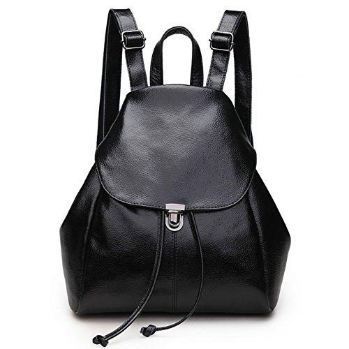 rg-collection-women-leather-drawstring-backpack-school-bag-travel-street-shoulderbag-handbag-black