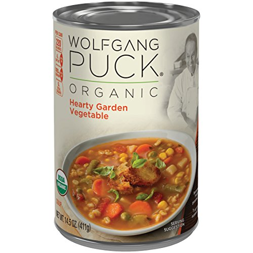 Wolfgang Puck Organic Soup, Hearty Garden Vegetable, 14.5 Ounce (Packaging May Vary) (Organic Soup Wolfgang Puck)