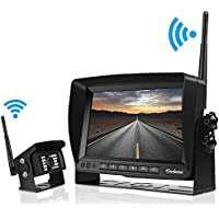 Digital Wireless Backup Camera kit for RV, IP69 Waterproof No Interference Super Night Vision Rear View Cam with 7'' LCD Reversing Monitor for Truck, Trailer, RV, Van, Large Vehicles