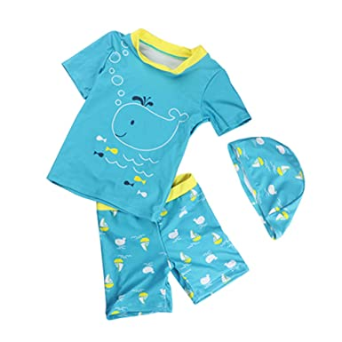 31f9a3ee Amazon.com: Baby Toddler Boys Two Pieces Swimsuit Set UV Sun Protective  Dinosaur Bathing Suit Swimwear with Hat UPF 50+: Clothing