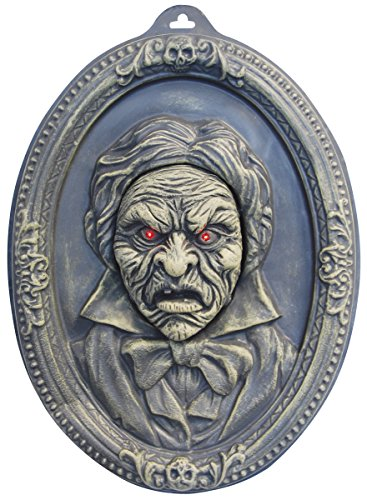 Animated Haunted Talking Portrait Wall Hanging Halloween Decoration Party Prop (Animated Halloween Pictures)