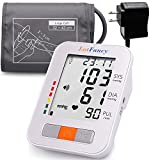 "LotFancy Blood Pressure Monitor, Upper Arm Large Cuff (13-17""), Electronic Sphygmomanometer, 180-Readings Talking Function (FDA Approved)"