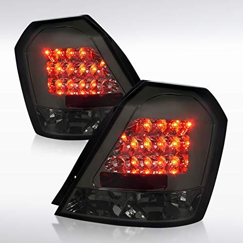 Autozensation For Chevy Aveo Aveo5 Hatchback Smoke LED Tail Lights Rear Brake Lamps